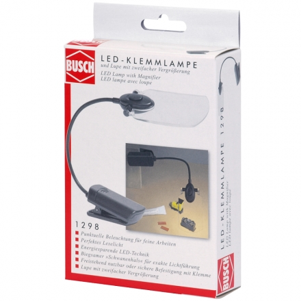 BUSCH 1298 LED-Klemmlampe mit Lupe