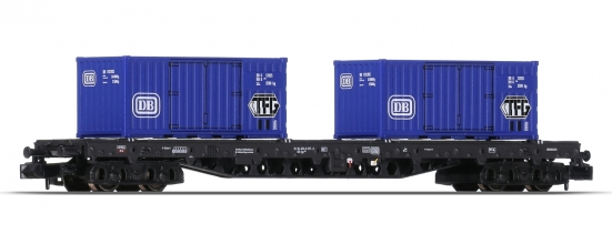 Minitrix 15961-02 N Containertragwagen der DB
