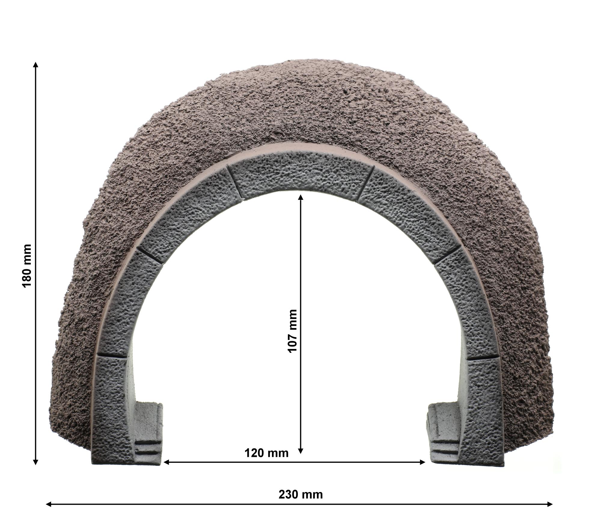 NOCH 58040 H0 ICE Tunnel-Portal 18 x 23 cm