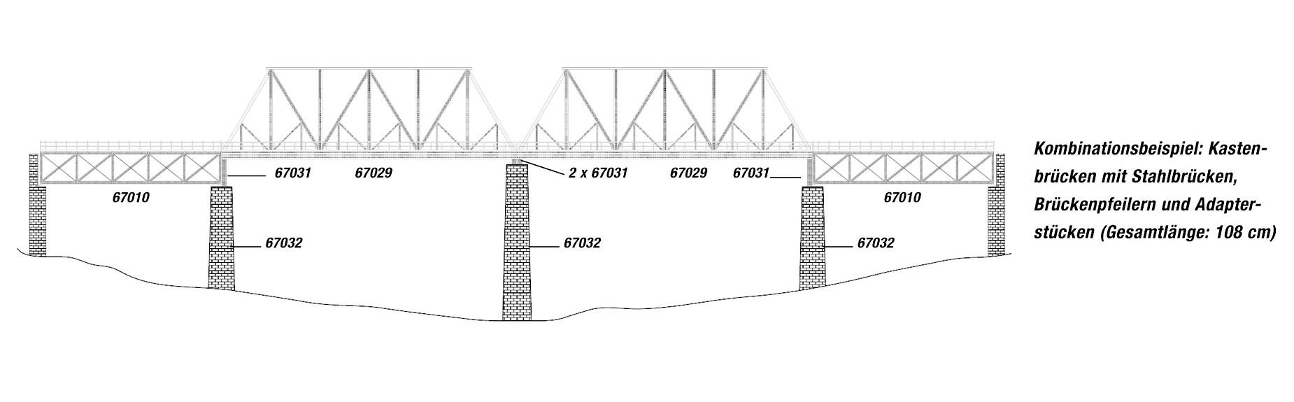 Noch 67031 H0 Brückenpfeiler Adapterstück