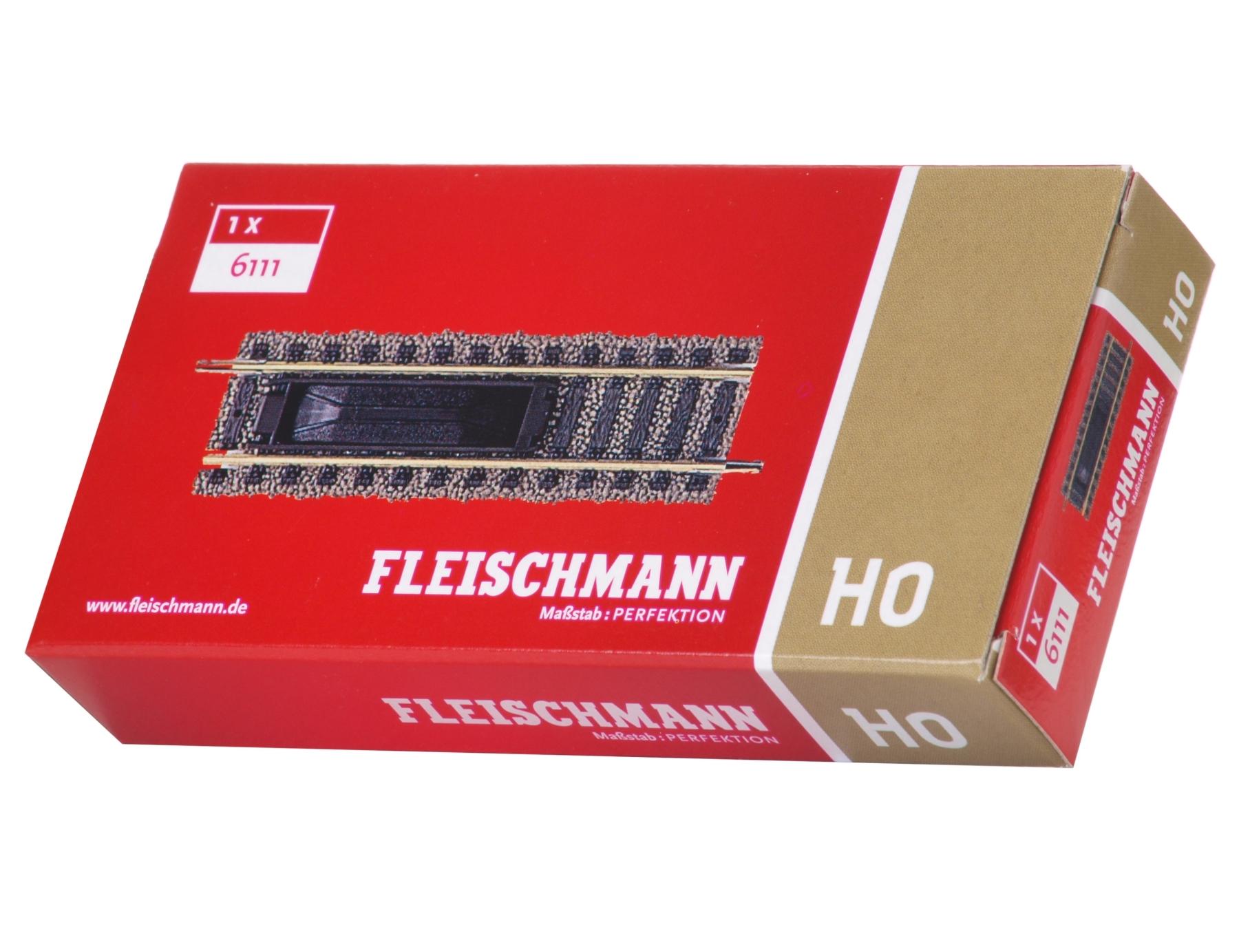 H0 Fleischmann 6111 Entkupplungsgleis mit E-Antrieb Länge 100 mm