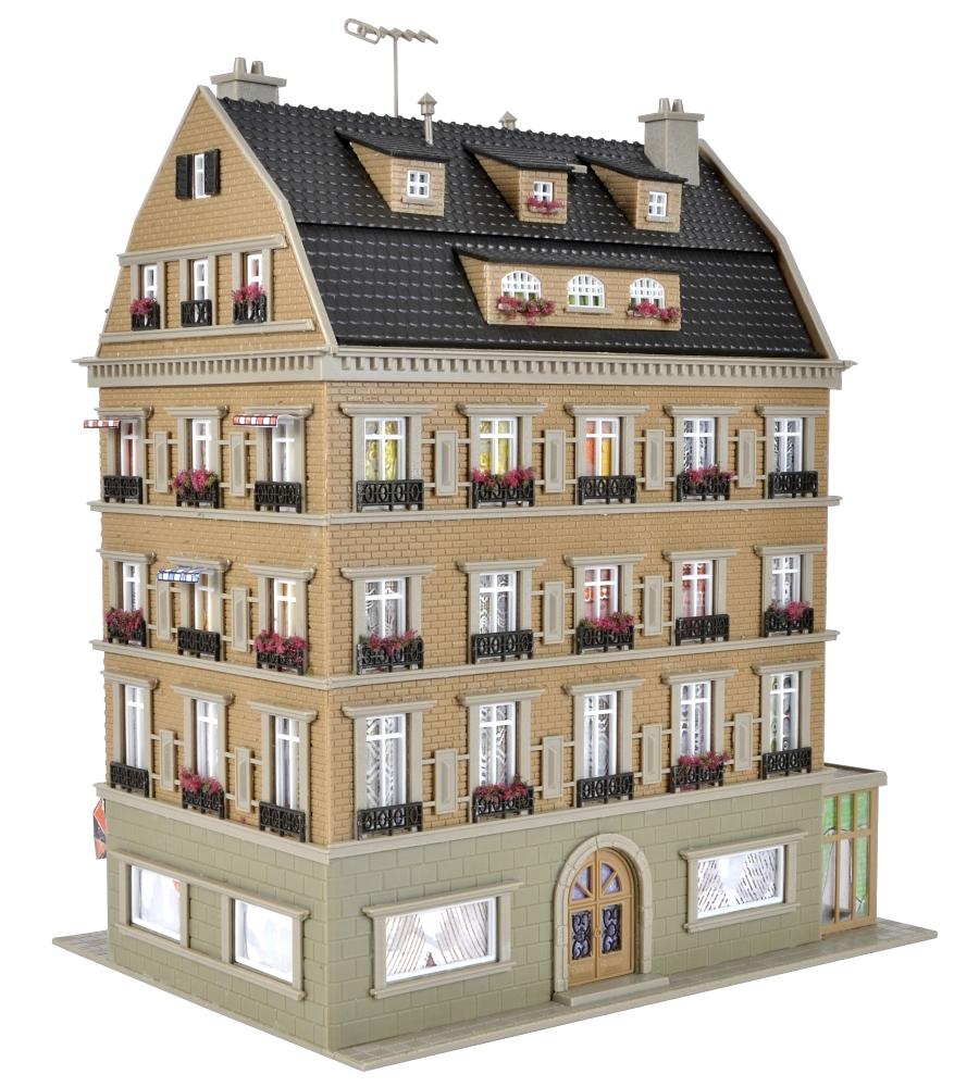 erlebniswelt modellbahn vollmer 43781 h0 restaurant inkl led beleuchtung. Black Bedroom Furniture Sets. Home Design Ideas