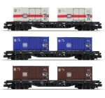 Minitrix 15961 N Containertragwagen-Set der DB 3-teilig